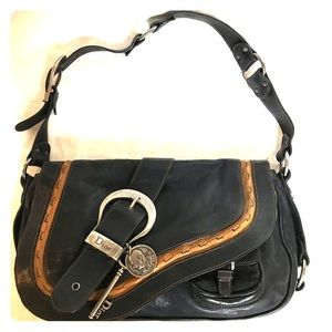 CHRISTIAN DIOR Gaucho Saddle bag.